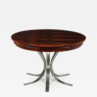 Dyrlund Mid century Modern Rosewood Flip Flap Lotus Dining Table by Dyrlund