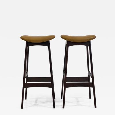 Dyrlund Pair of Erik Buch for Dyrlund High Stools