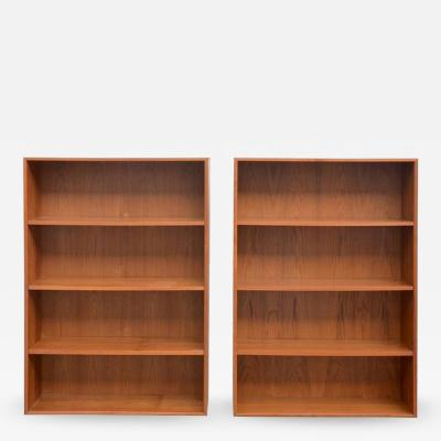 Dyrlund Pair of Minimalistic Hanging Danish Teak Shelving Units by Dyrlund