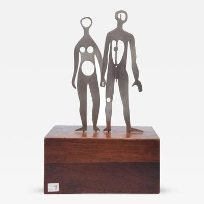 EMAUS Modernist Sculpture in Sterling Silver by Emaus