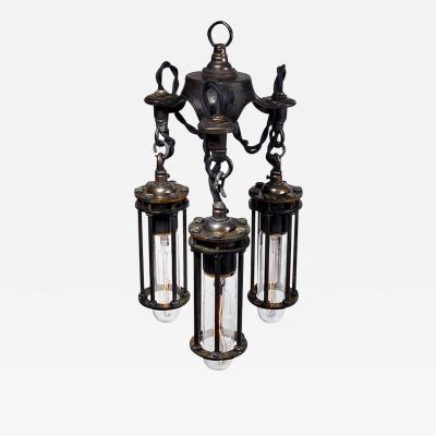 Early Electrics LLC Petite 3 Cage Industrial Chandelier