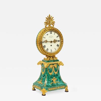 Edward F Caldwell Co Caldwell Lighting Edward F Caldwell An Extremely Fine and Rare Ormolu Mounted Malachite Clock