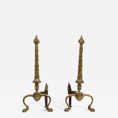 Edward F Caldwell Co Caldwell Lighting Pair of Bronze Andirons