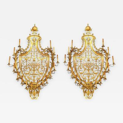 Edward F Caldwell Co Caldwell Lighting Pair of Caldwell French Empire Style Ormolu Wall Sconces