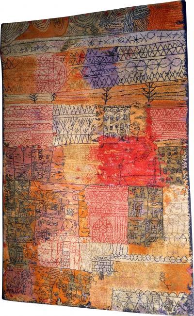 Ege Axminster After Paul Klee 1926 Painting EGE Art Line Rug Denmark 1980s