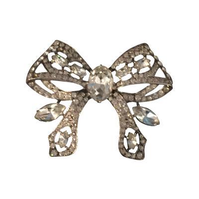 Eisenberg Glamorous Eisenberg Original Art Deco Bow Pin