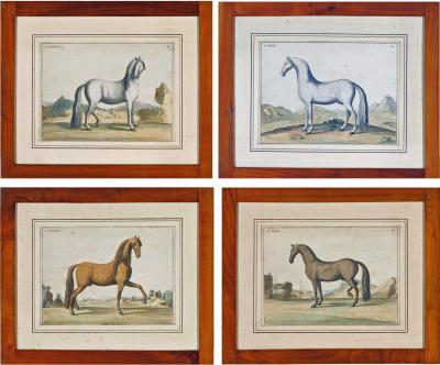 Eisenberg Prints of Four Horses by Baron DEisenberg