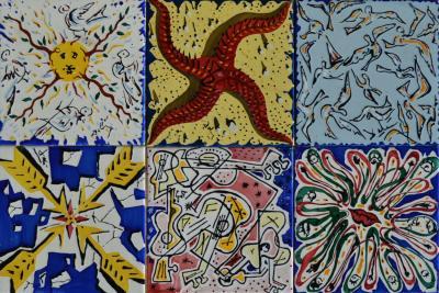 El Siglo La Suite Catalane Set of 6 Dali Tiles 1954