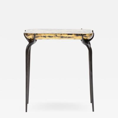 Elan Atelier Jewel Side Table in Gold Leaf