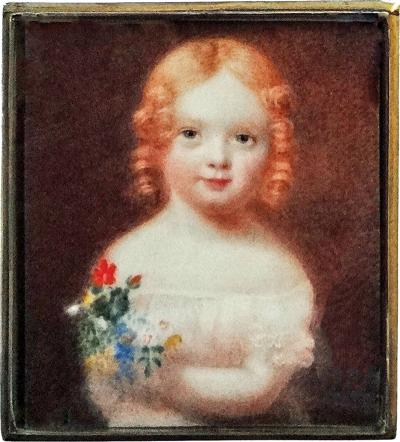 Elle Shushan Portrait Miniature of Julia Chester by Anson Dickinson