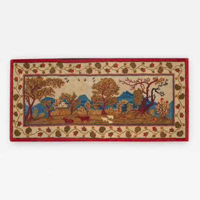 Elliott Grace Snyder Exceptional Yarn Sewn Rug c 1825