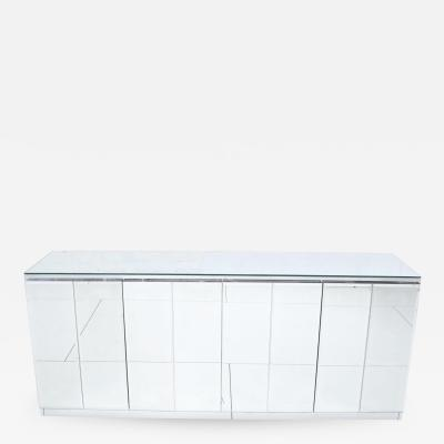 Ello Furniture Co Ello Mirrored and Chrome Credenza 1970s