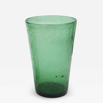 Empoli Italian Green Glass Vase