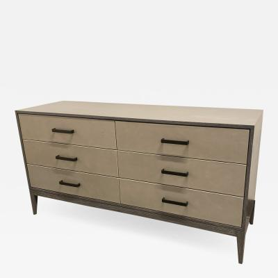 Ercole Home 6 DRAWER LEATHER CHEST