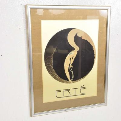 Ert Art Deco L Amour Vintage Poster Style of ERTE Romain de Tirtoff France 1980s