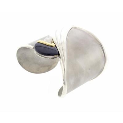 Ert Ert Tempest Silver Cuff Bracelet