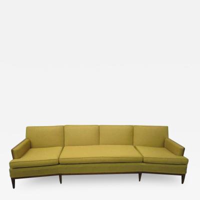 Erwin Lambeth Sophisticated Erwin Lambeth Curved Walnut Sofa Mid Century Modern