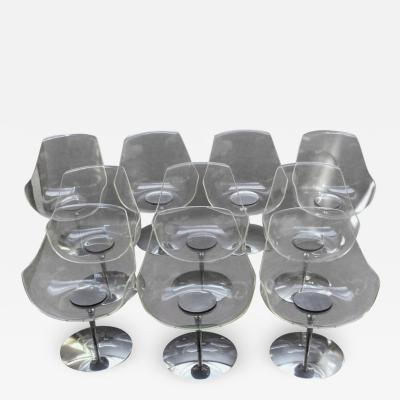 Erwine and Estelle Laverne 10 Fine 1960 s Lucite Champagne Chairs by Estelle Erwin Laverne