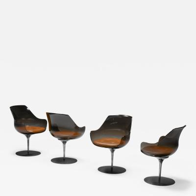 Erwine and Estelle Laverne Set of four Champagne Chairs by Erwine Estelle For Laverne International