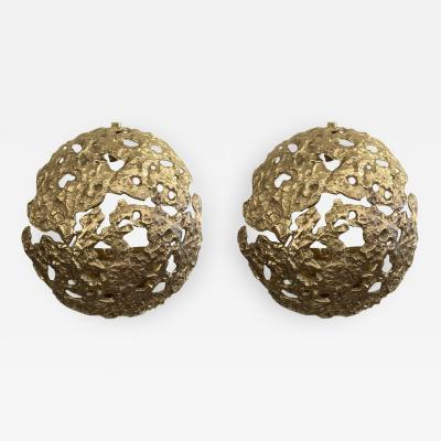 Esperia Cast Bronze Meteorite Wall Lights by Esperia