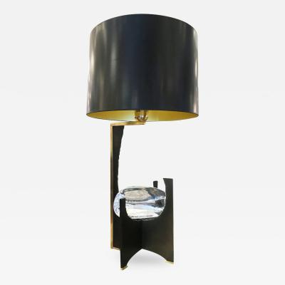 Esperia Galileo Black Iron and Glass Table Lamp by Esperia