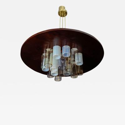 Esperia Unique Wood and Glass Chandelier by Esperia for Glustin Luminaires