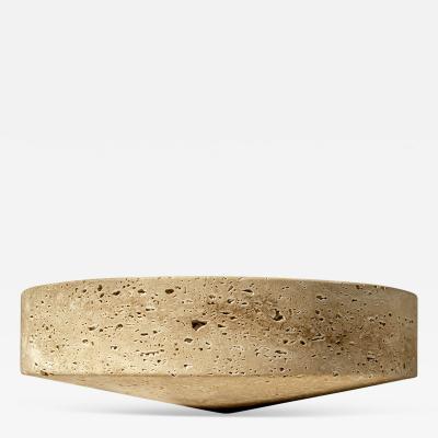 Essenzia Swing honed Fruit Bowl in Travertino