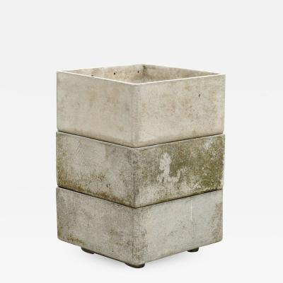 Eternit SA Stackable Fiber Concrete Planters Switzerland 1960s