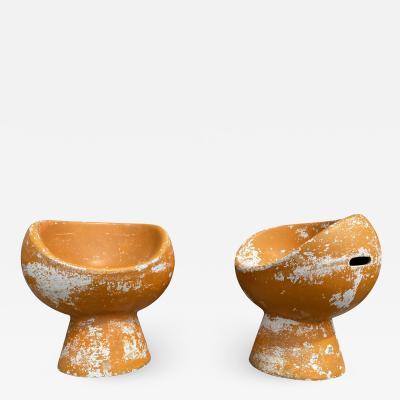 Eternit SA Willy Guhl Orange Pod Chairs pair