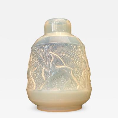 Etling France A Rare French Art Deco Iridescent Glass Vase Etling