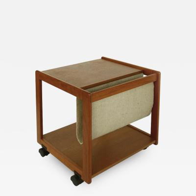 FBJ M bler FBJ M bler Danish Modern Magazine Stand Side Table in Teak