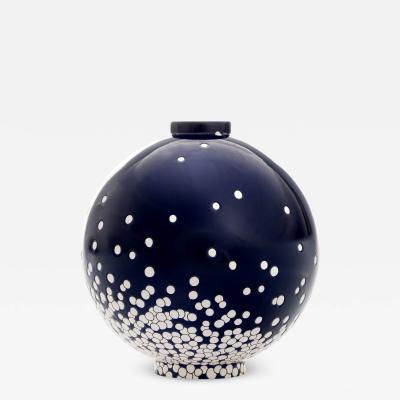 Fa enceries et Emaux de Longwy Contemporary Vase Emaux de Longwy Darksnow