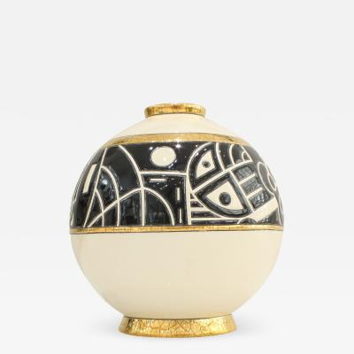 Fa enceries et Emaux de Longwy Small Vase Emaux de Longwy Motifs