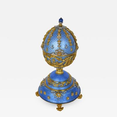 Faberg Fountain of Jewels by Faberge 24 Karat Gilt Musical Egg