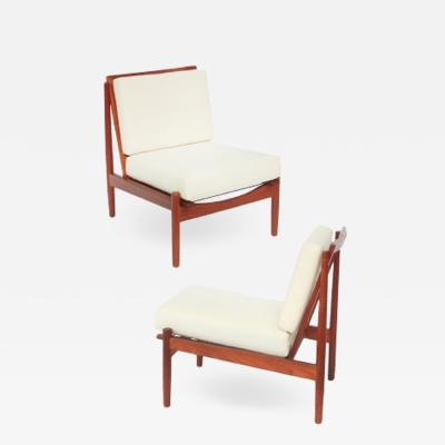 Fabian Denmark Mid century Danish Teak Lounge Chairs