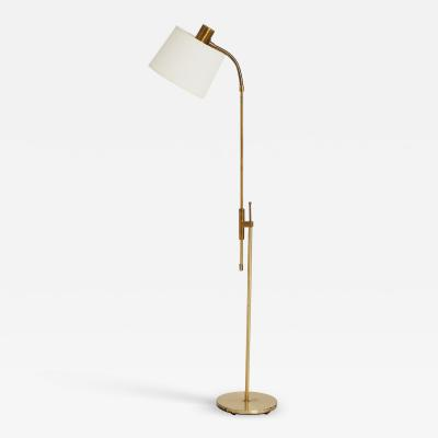 Falkenbergs Belysning Brass Reading Floor Lamp by Falkenbergs Belysning