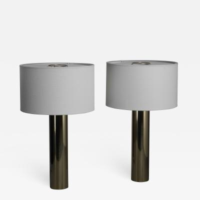 Falkenbergs Belysning Falkenberg brass table lamps Sweden 1950s