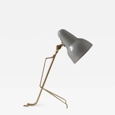 Falkenbergs Belysning Scandinavian Midcentury Table Lamp in Brass and Metal by Falkenbergs