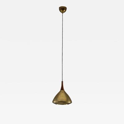 Falkenbergs Belysning Swedish Pendant in Rosewood and Perforated Brass by Falkenberg