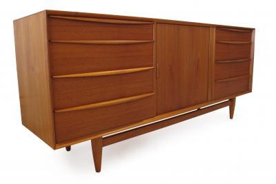 Falster Svend Age Madsen Teak 13 Drawer Dresser Cabinet