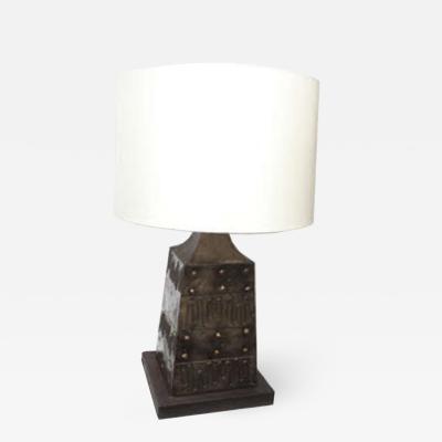 Fantoni Fantoni Table Lamp Brutalist Mid Century Modern