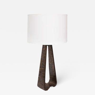 Fantoni Fantoni Table lamp Brutalist Mid Century Modern brass Italy 1960s