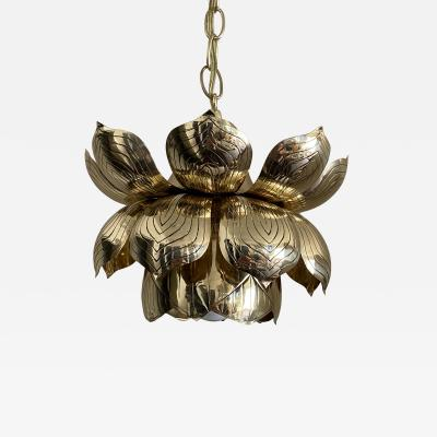 Feldman Lighting Co Brass Lotus Pendent Light