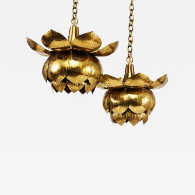 Feldman Lighting Co Feldman Brass Lotus Pendent Light Fixtures