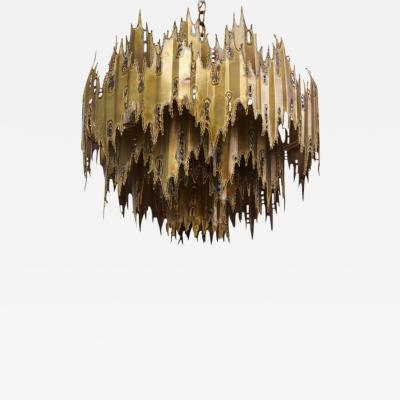 Feldman Lighting Co Tom Greene for Feldman Lighting Brutalist Chandelier