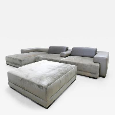 Fendi Fendi Casa Modular Interchangeable Sectional in Leather and Microfiber
