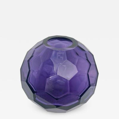 Fendi Stuning Fendi Murano Diamond Amethyst Vase