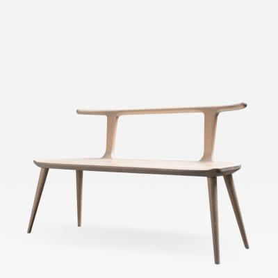 Fernweh Woodworking OXBEND BENCH WHITE ASH