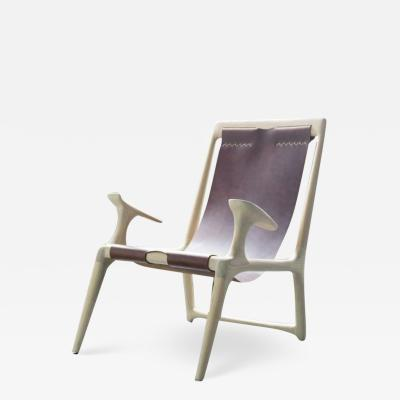 Fernweh Woodworking THE SLING CHAIR WHITE ASH LEATHER
