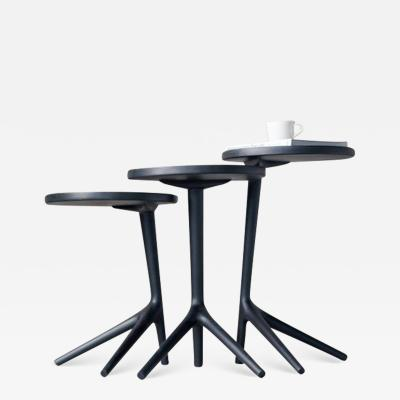 Fernweh Woodworking THE TRIPOD TABLE CHARCOAL ASH